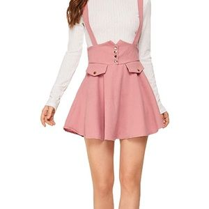 Pink with Bow Overall Skirt